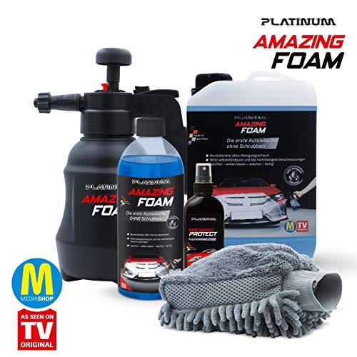 Mediashop Platinum Amazing Foam Set – Autoreiniger und Autopflege – entfernt hartnäckigen Schmutz und sorgt für Glanz – auch als Cockpit Reiniger – für alle Oberflächen - 8