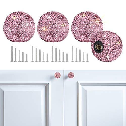 Savori Cabinet Knob Crystal Dresser Cupboard Drawer Wardrobe Door Knobs Bling Round Pull Handle With