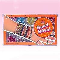 DIY子供の創造的な編みこみのブレスレット手作りの文字列の宝石は、教育玩具のセットルースビーズをビーズ,オレンジ色