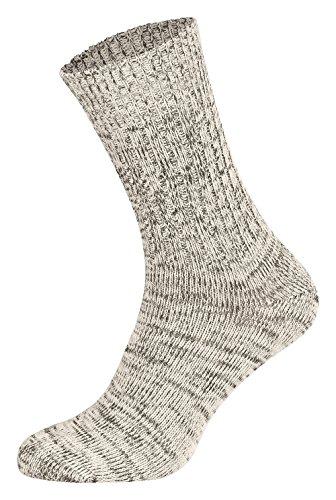 Tobeni 5 Paar Original Jeans Socken Herrensocken Arbeitssocken Baumwollsocken nahtlos Farbe Natur Grösse 43-46