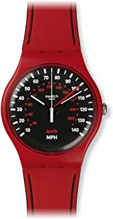 Swatch Women's SUOR104 Red Brake Year-Round Analog Quartz Red Watch
