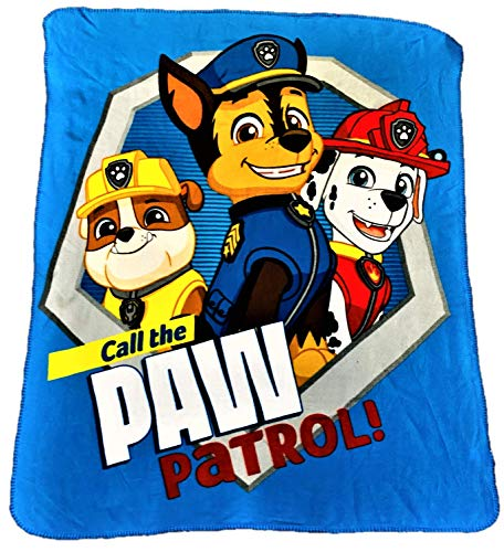 Paw Patrol Marshall Chase and Rubble Call The Paw Patrol Blanket