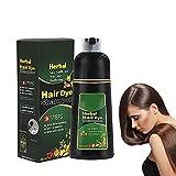 TGBN Herbal Hair Dye Shampoo 3 in 1, 500ml Organic Natural 10 Mins Herbal Hair Darkening Shampoo, Hair Care Multi-Color Hair Coloring Shampoo for Men and Women (Deep Coffee)