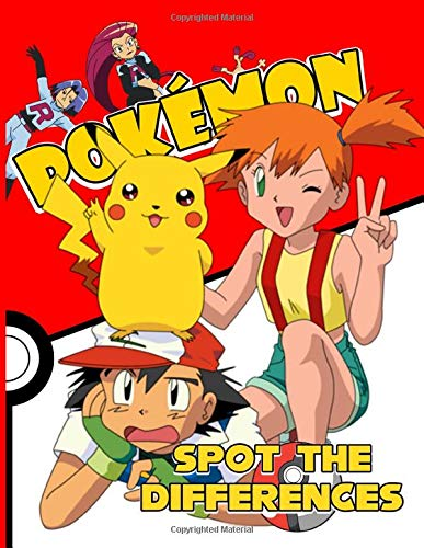 Pokemon Spot The Difference: Spot-the-Differences Activity Books For Adult