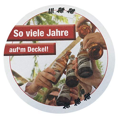 Geburtstags Party Einladung Bierdeckel/So viele Jahre auf dem Deckel / 10 Stück