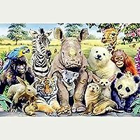 1000個の木製大人のパズル、減圧レジャーと環境保護のパズル、最高のホリデーギフト-動物コレクション(50x75cm)
