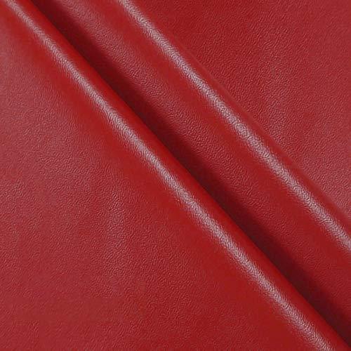 ZXC 138 cm de Ancho Venta De Polipiel por Metros Tejido De Piel SintéTica por Tapizar,Polipiel,Manualidades,Vinilo,Cojines o Forrar Objetos 1m Vendido por Metro(Color:Gran Rojo)