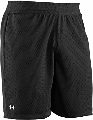 Under Armour Double Shorts, Black//White, Small