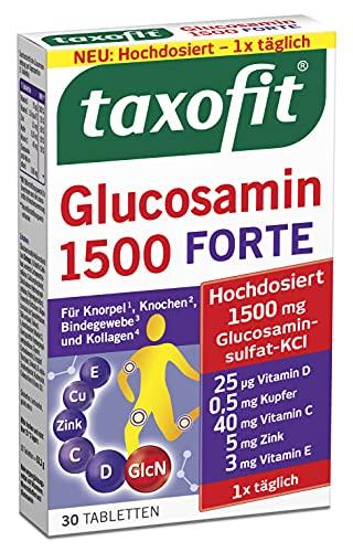 taxofit® Glucosamin 1500 FORTE | Für Knorpel, Knochen, Bindegewebe und Kollagen | 30 Tabletten