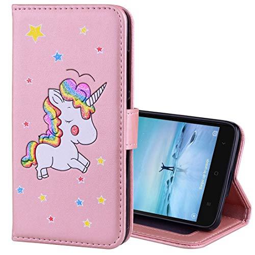 Handy-Ledertaschen Für Xiaomi Redmi Note 3 Glitter Puder Einhorn Muster Horizontal Flip Ledertasche...