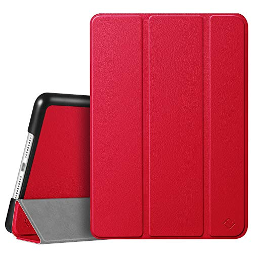 FINTIE SlimShell Case for New iPad 10.2' 8th Generation 2020 / iPad 7th Generation 10.2 Inch 2019, Super Thin Lightweight Stand Protective Cover, Auto Sleep/Wake Feature, Red