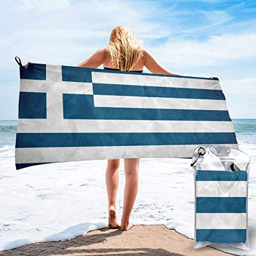 Badelaken Griechische Flagge Quick Dry Leichtes Handtuch Super Absorbent Sand Free Handtuch für Reisen, Schwimmen, Fitnessstudio, Yoga 140X70CM