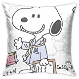 Deewell Home Dekorativer quadratischer Snoopy-Kissenbezug für Sofa, Schlafzimmer, Einheitsgröße