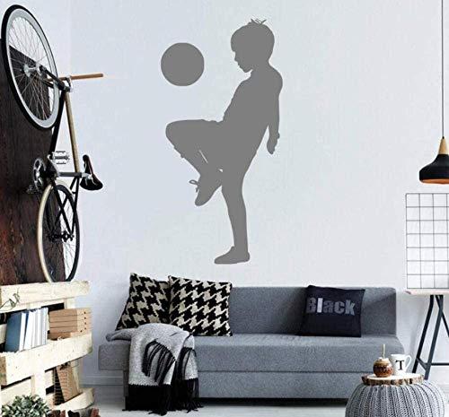 Aufkleber Verzierung Raumdekoration Aufkleber Kinder Spielen Fußball Muster Sport Stil Wandtattoo Vinyl Kunst Wandbild Grafik 44 * 88Cm
