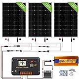 ECO-WORTHY Conjunto de paneles solares de 360 W: panel solar de 20 W + controlador de carga solar de 30 A + cable solar de 5 m + inversor de 1000 W y 12 V