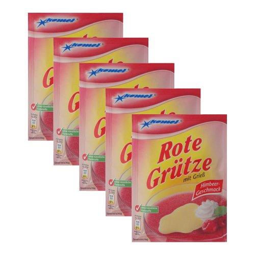 Komet Rote Grütze Himbeer 5er Pack (5 x 50 g)