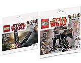 LEGO Last Jedi Star Wars First Order Heavy Assault Walker 30497 Star Kylo Ren's Shuttle 30380 Polybag Edition Building Set