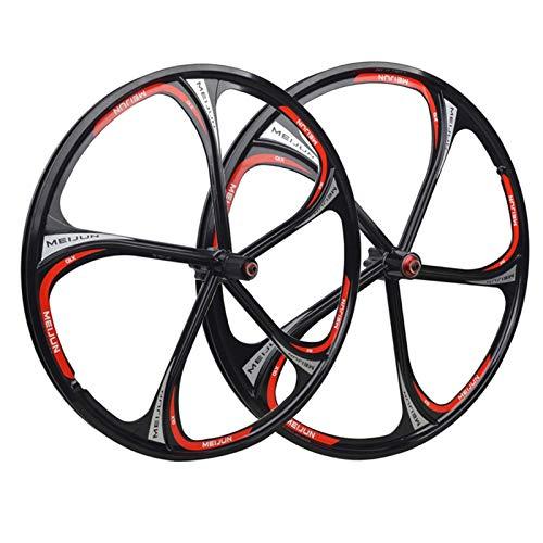 26'Ruedas de Bicicleta MTB Bike Wheelset Doble Pared de magnesio aleación Frontal en la Parte Posterior de la aleación Freno de Disco de liberación rápida 7 8 9 10 11 Cassette (Size : 17)
