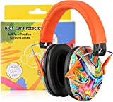 PROHEAR 032 Ear Defenders for Children, Hearing Protection for Autistic Toddlers Have Sensory Issues, Kids Adjustable Safety Earmuff, Ideal for Firework, Concert, Study - Orange Graffiti