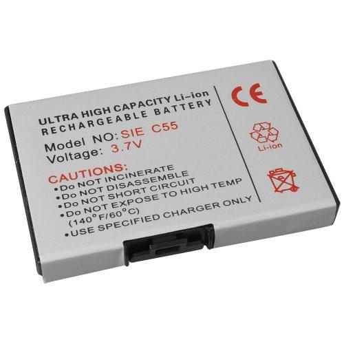 foto-kontor Akku für Siemens A52 A55 C55 M55 MC60 C60 S55 A60 A57 A65 A75 A70 A62 MCT62 A51 Ersatzakku Accu Batterie