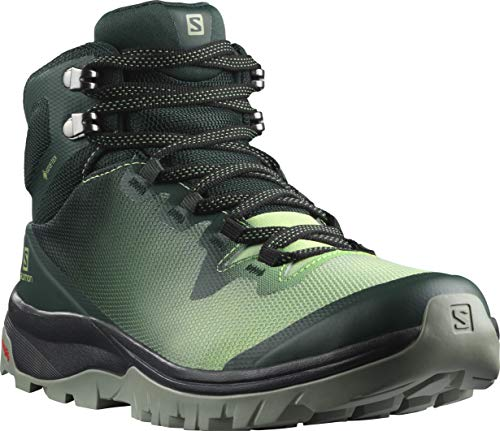 Salomon Women's VAYA MID GTX Hiking, Green Gables/Spruce Stone/Shadow, 8.5