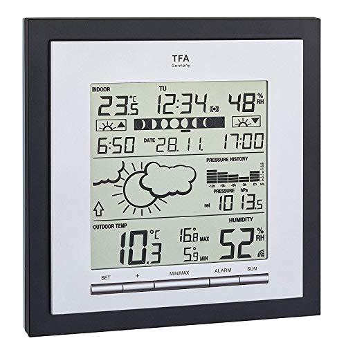 TFA Dostmann Linea Plus Estación meteorológica, Negro metálico