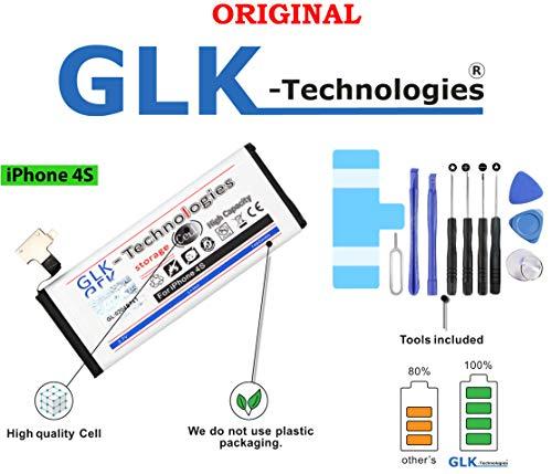 -35% NUR Kurze Zeit Original GLK-Technologies® // kompatible mit iPhone 4S Akku mit 1460 mAh // inkl. Werkzeug Set Kit