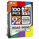 100 PICS Road Signs Travel Game - Traffic Sign Flash Cards, Helps Learn DVLA Highway Code Theory Driving Test UK