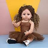 YIHANGG 55cm 22 Pulgadas Vinilo Completo Silicona Realista Bebés Reborn Muñecas Bebé Niña para Niños Compañeros De Juego Reborn Juguetes Muñeca Regalos