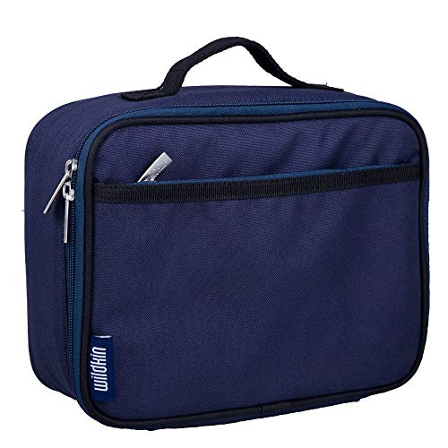 Wildkin Kids Insulated Lunch Box Bag for Men and Women, Ideal Size for Packing Hot or Cold Snacks for Work & Travel, Measures 9.75 x 7 x 3.25 Inches, Mom's Choice Award Winner, BPA-free (Whale Blue)