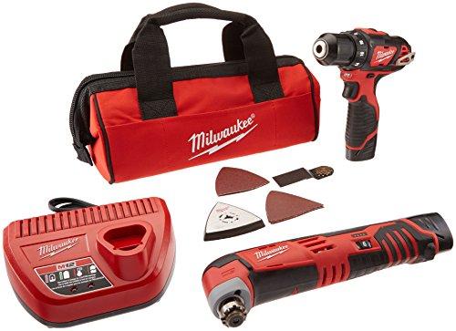 Milwaukee 2495-22 M12 Combo 3/8 Drvdrl/Multi-tool W/2 Bat