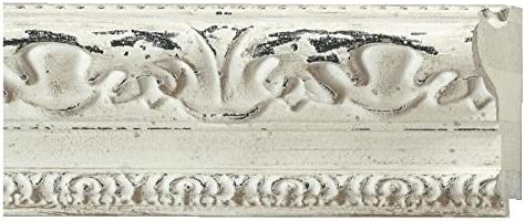 Picture Frame Moulding Wood 100ft - Bundle Distressed Arlington 2021 Mall Aged Whi