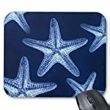 Yanteng Cojín de ratón náutico Elegante lamentable rústico de Las Estrellas de mar
