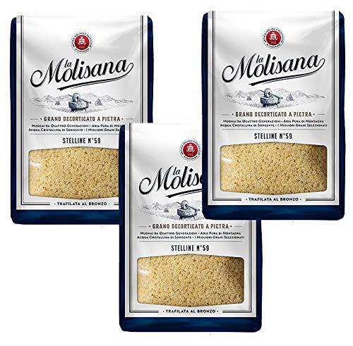 La Molisana Stelline Italian Dried Pasta 1.5kg (3 x 500g Packs)