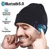 Bluetooth Mütze Herren Damen Geschenk, Bluetooth 5.0 Kopfhörer Männer Mütze Beanie mit Mikrofon...
