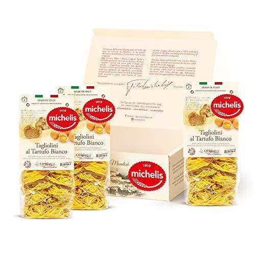 Michelis - La Pasta Secca all'Uovo, Pasta Artigianale, Pasta Mista, Confezione Regalo Prodotti Italiani Prodotti Tipici Box Pasta Specialità Gastronomiche (3 Tagliolini Tartufo)