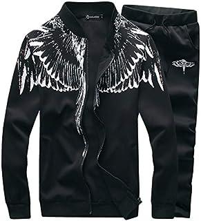 SEA GIANT Men's Autumn Winter Sport Coat Sweatshirt+Pants Sets Sports Suit Tracksuit