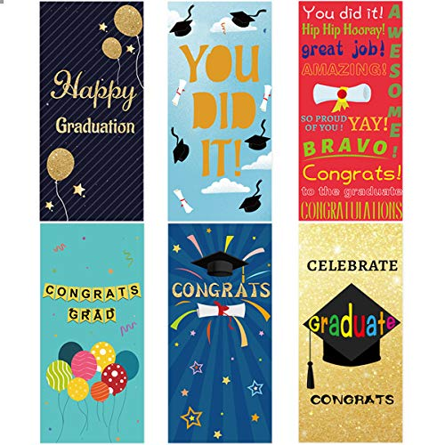 36Pcs Graduation Money Holder Cards with Envelopes and Stickers Graduation Greeting Cards