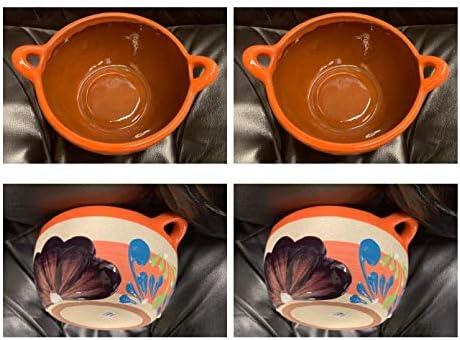 "high quality 2-Made in Mexico Grande Liso Plato Hondo Para Menudo Caldo Pozole Sopa Pozolero Ceramico Cazo Casserole Dish Serving Bowl Soup Cereal Beans Rice popular Stew Mole wholesale Frijol Carnitas 6"" Mexicana online"