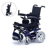 sZeao Silla de Ruedas eléctrica Ancianos discapacitados Inteligentes de pie Silla de Ruedas eléctrica Marco de Aluminio Freno electromagnético