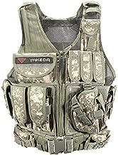 YAKEDA Tactical Vest Outdoor Ultra-Light Breathable Combat Training Vest Adjustable for Adults 600D Encryption Polyester-VT-1063 (ACU)
