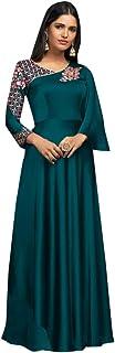 Ready to wear Ethnic Party Glowing Georgette Indian Kurti Kurta Gown Women Maxi dress 8330