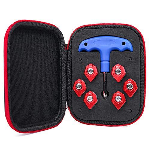 Gofotu 1 Set Aftermarket Golf Weight Tool Kit Fit Cobra SZ Speedzone Driver Red 6g,8g,10g,12g,14g,16g+Wrench+case
