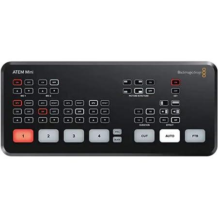 ATEM Mini Blackmagic Design ライブプロダクションスイッチャー HDMI 最大1080p HDのビデオをストリーミング ATEM Mini Switcher (ATEM mini)