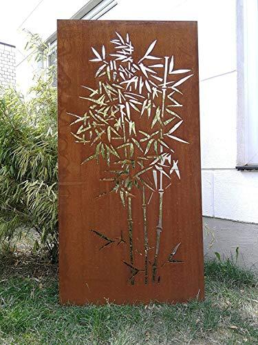 Zen Man Garten Edelrost SichtschutzWand rost aus Corten Stahl Garten Sichtschutz 2mm 031915-2C B75*H150cm 18,6kg