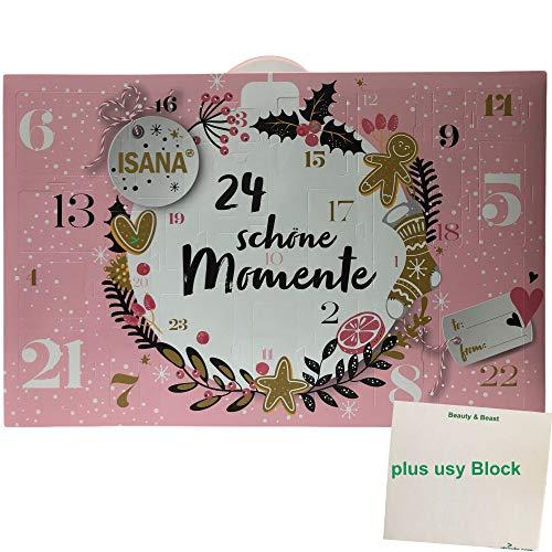 "Isana Adventskalender 2020""24 schöne Momente"" (1 Stück) pus usy Block"