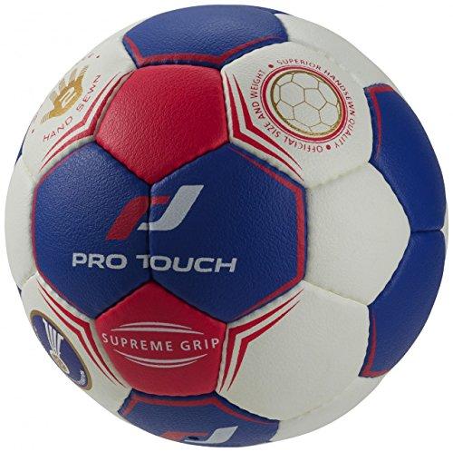 Handball Supreme Grip - weiß/blau/rot
