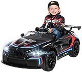 Actionbikes Motors Kinder Elektroauto BMW M6 GT3 - Lizenziert - 2,4 Ghz Fernbedienung - Bluetooth - Softstart - Elektro Auto für Kinder ab 3 Jahre (Schwarz)