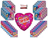 Shimmer and Shine Birthday Party Supplies Bundle Pack 16 Large Heart Balloon (Plus Party Planning Checklist Mikes Super Store)