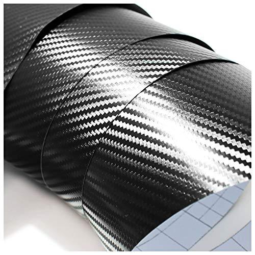 Finest Folia (7€/m²) 3D Carbonfolie Auto Folie Carbon Glanz 4d matt schwarz blasenfrei 5d (Schwarz, 100cm x 152cm)